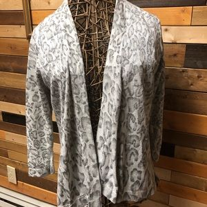 Chicos size 2 animal print open cardigan